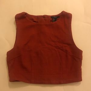 Burnt Red Cropped Tank